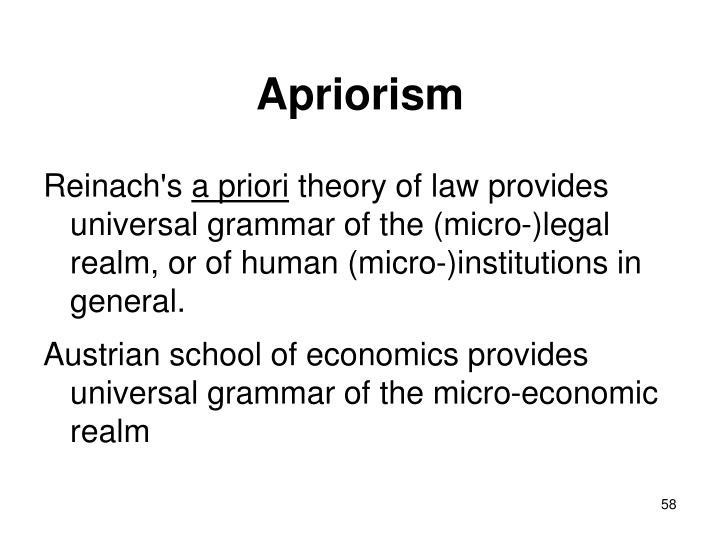 Apriorism