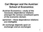 carl menger and the austrian school of economics