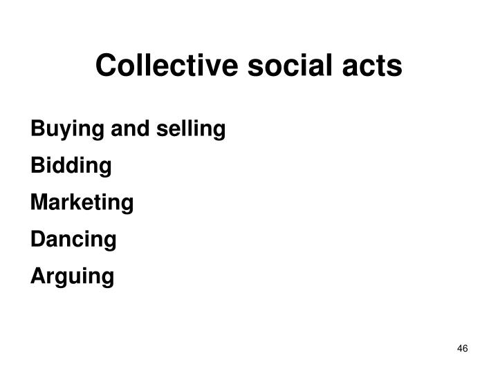 Collective social acts