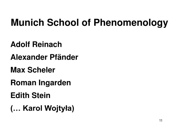 Munich School of Phenomenology