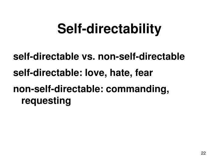 Self-directability