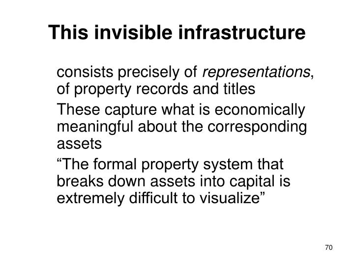 This invisible infrastructure