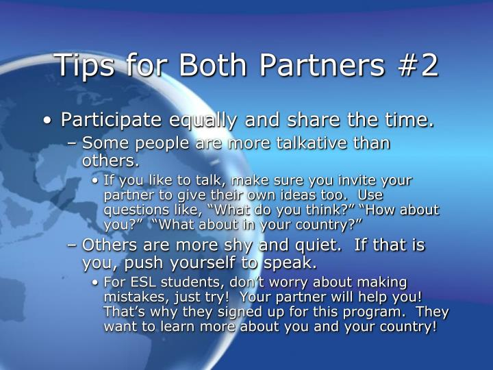 Tips for Both Partners #2
