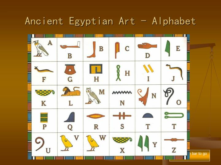 Ancient Egyptian Art - Alphabet