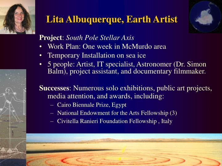 Lita Albuquerque, Earth Artist