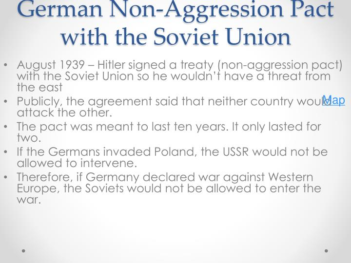 German non aggression pact with the soviet union