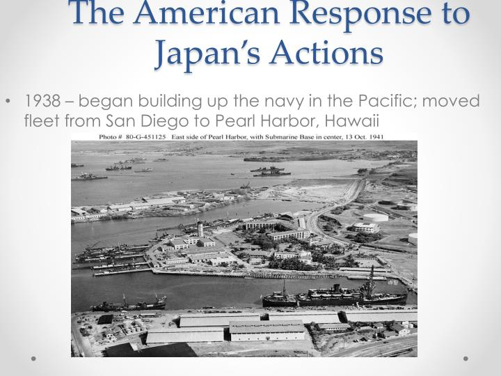 The American Response to Japan's Actions