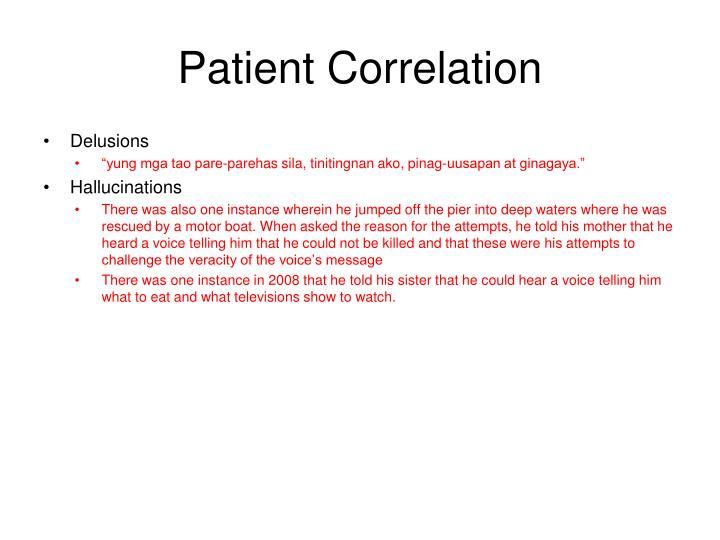 Patient Correlation