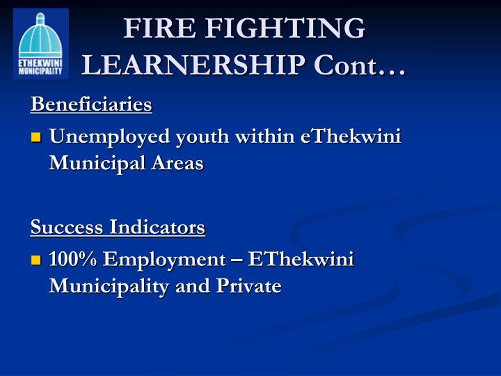 fire-fighting-learnership-cont-n Job Application Form Ethekwini Munility on