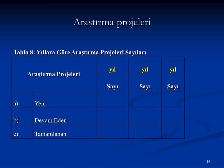 Araştırma projeleri