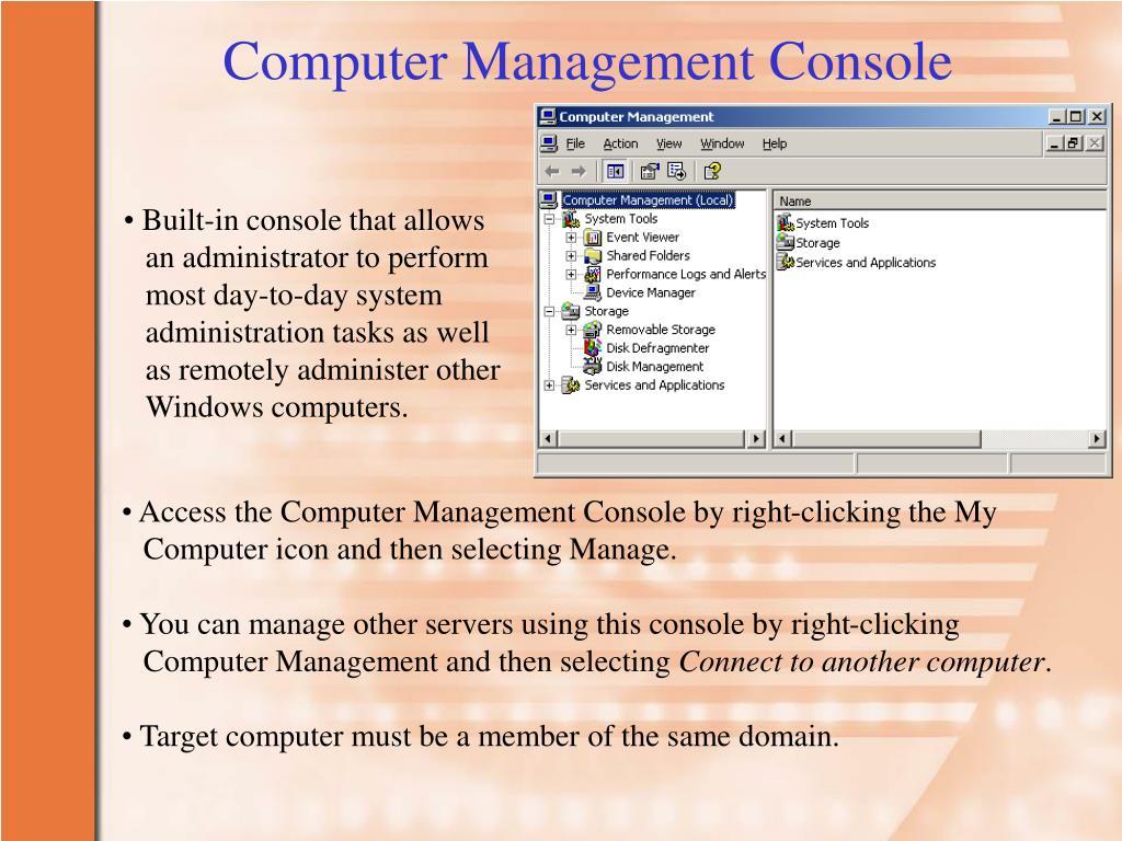 Computer Management Console