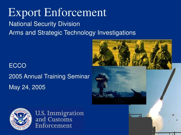 Export enforcement