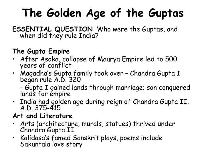 The golden age of the guptas