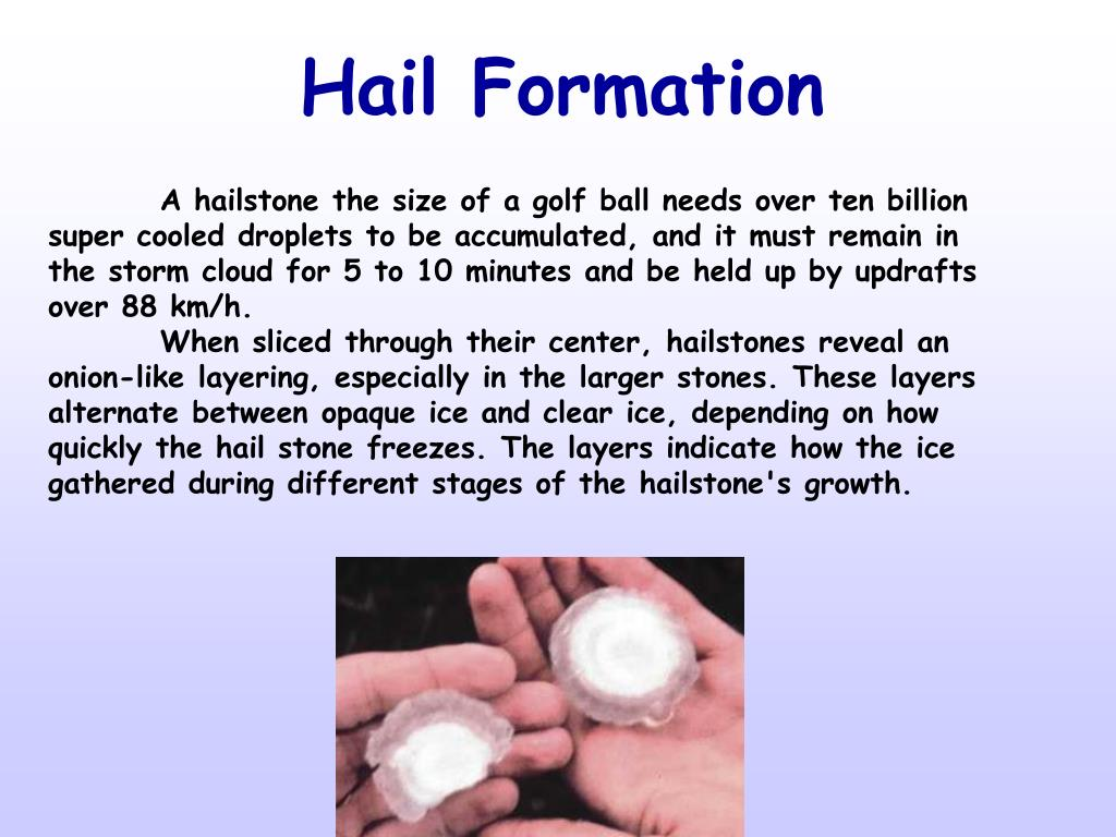 Hail Formation