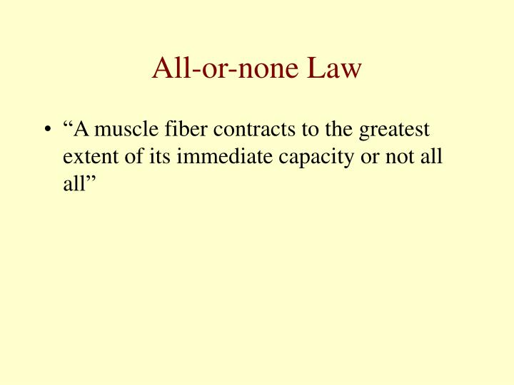 All-or-none Law