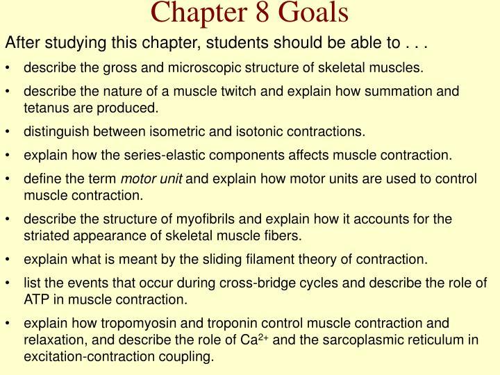 Chapter 8 Goals