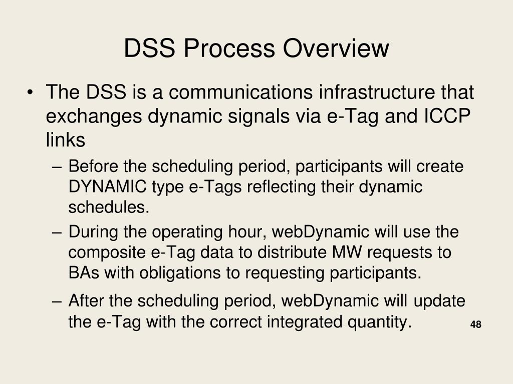DSS Process Overview