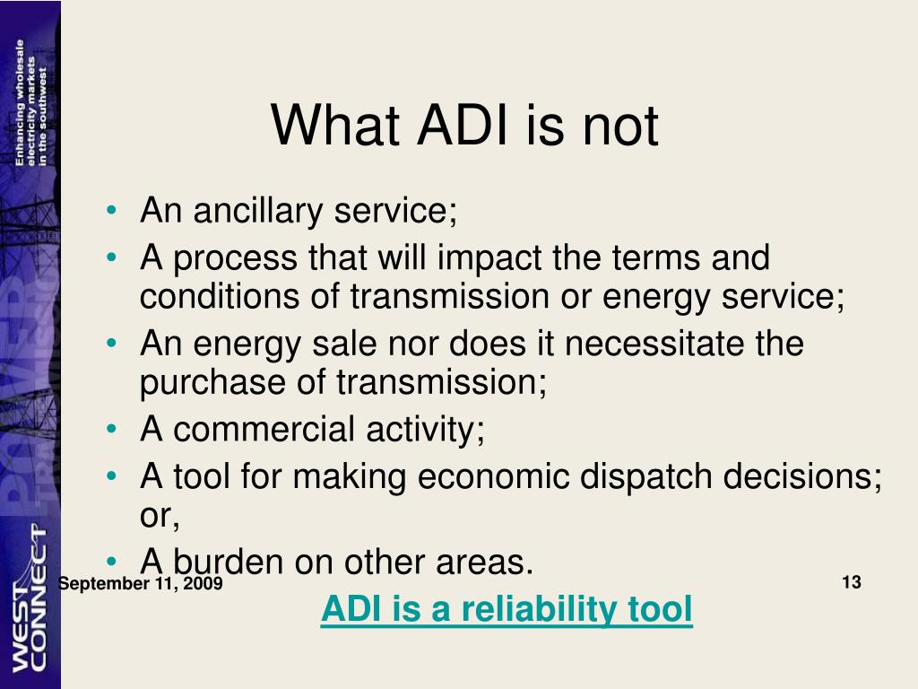 What ADI is not