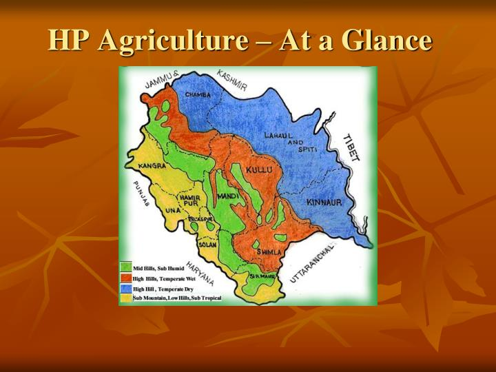 HP Agriculture – At a Glance