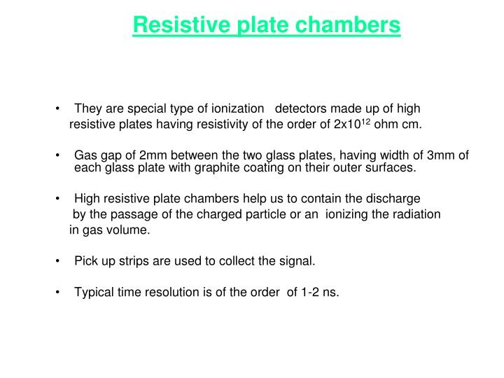 Ppt glass resistive plate chambers for muon detection for Decor fusion interior design agency manchester m3