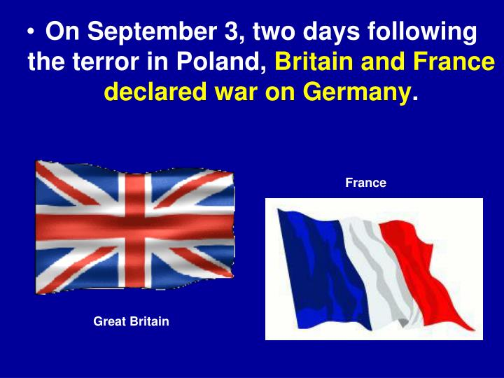 On September 3, two days following the terror in Poland,