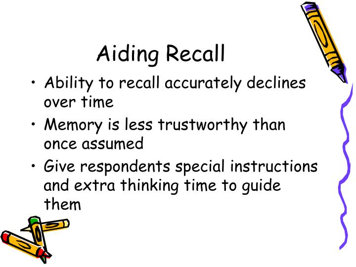 Aiding Recall