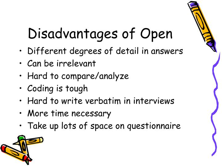 Disadvantages of Open