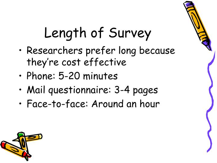 Length of Survey