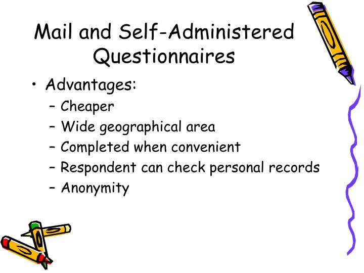 Mail and Self-Administered Questionnaires