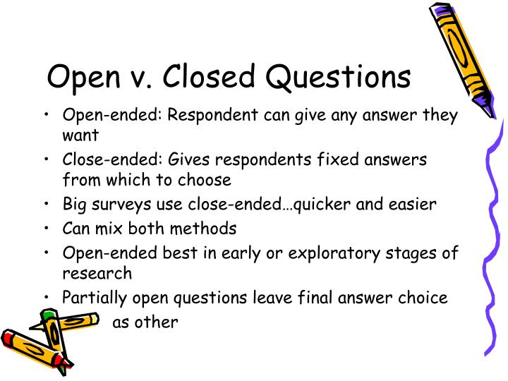 Open v. Closed Questions