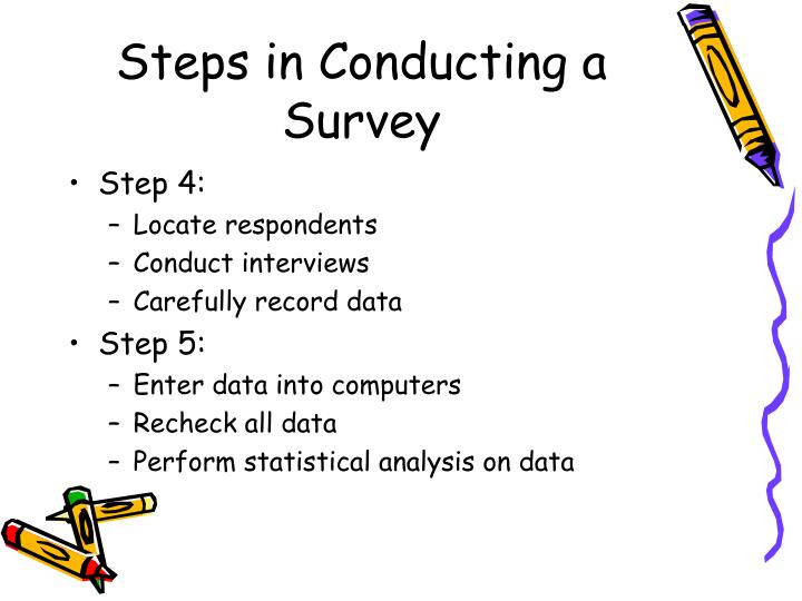 Steps in Conducting a Survey