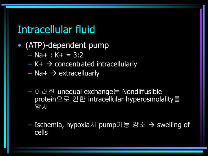 Intracellular fluid