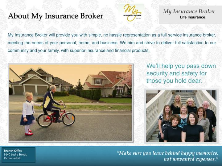 About my insurance broker