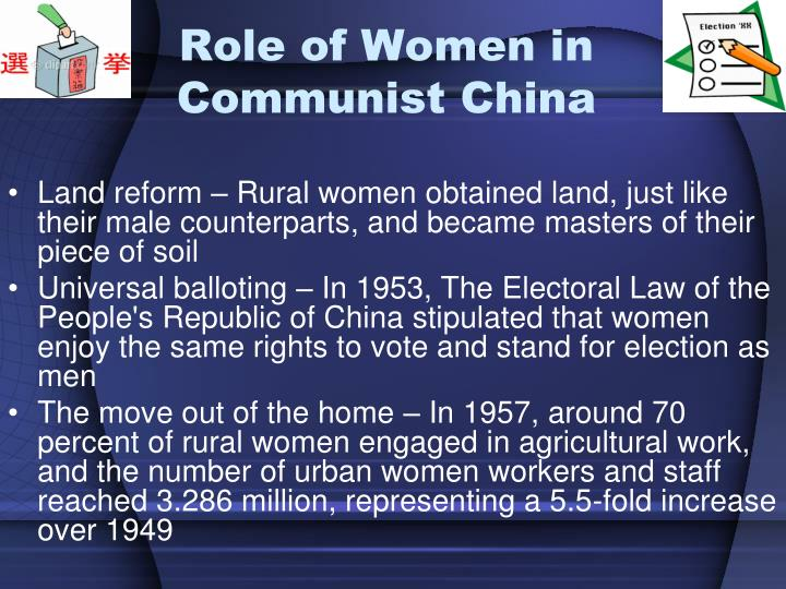 Role of Women in Communist China