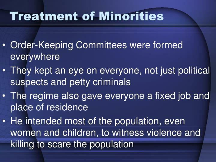 Treatment of Minorities
