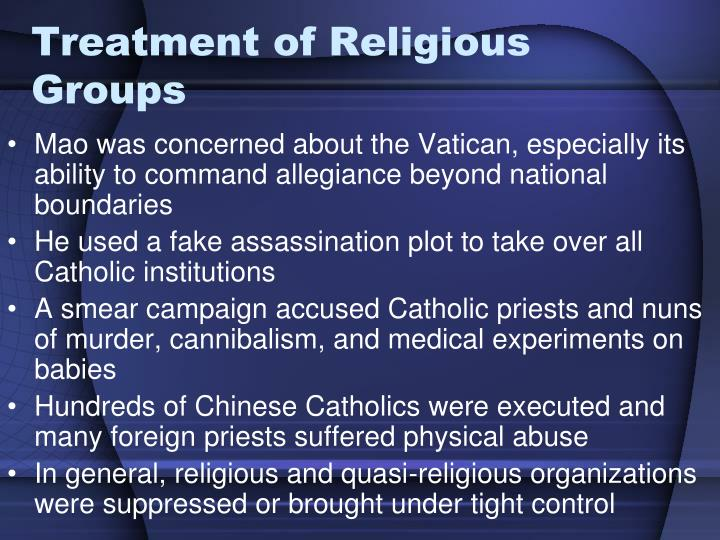 Treatment of Religious Groups