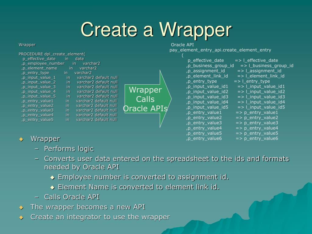 Create a Wrapper