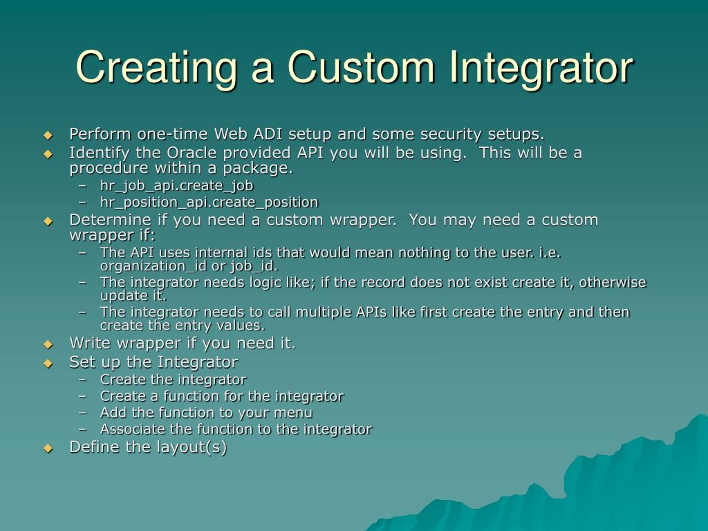 Creating a Custom Integrator