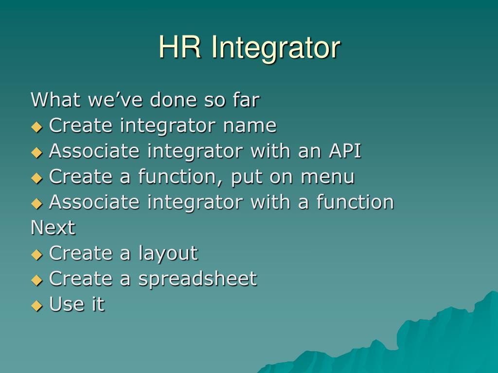 HR Integrator