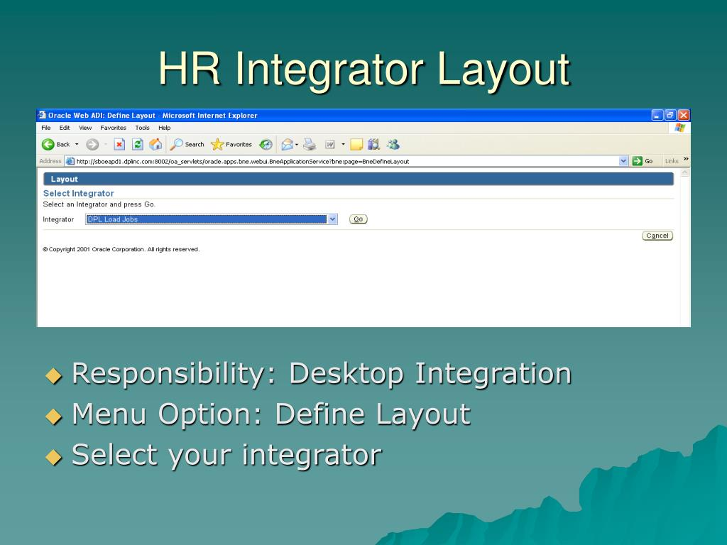 HR Integrator Layout