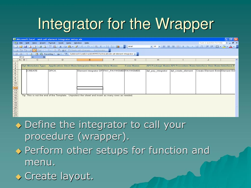 Integrator for the Wrapper