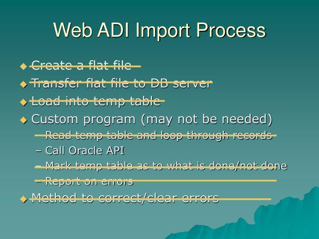 Web ADI Import Process