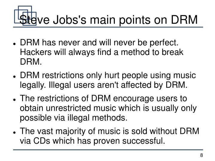 Steve Jobs's main points on DRM