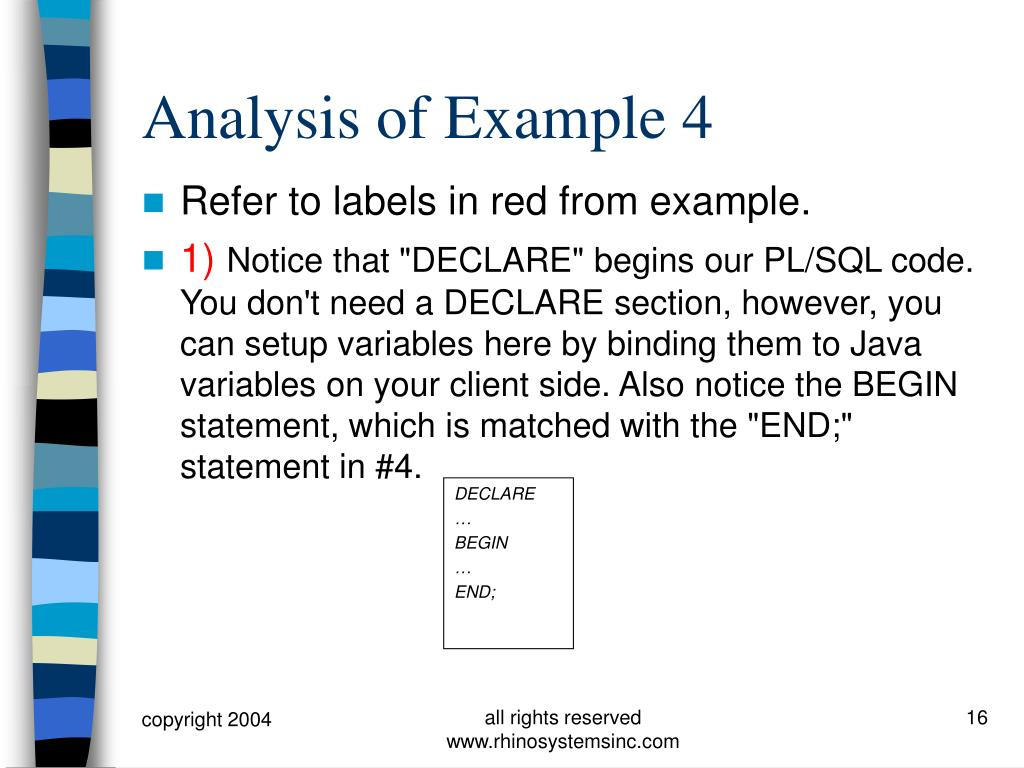 Analysis of Example 4