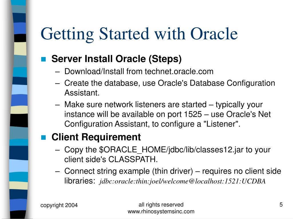Getting Started with Oracle