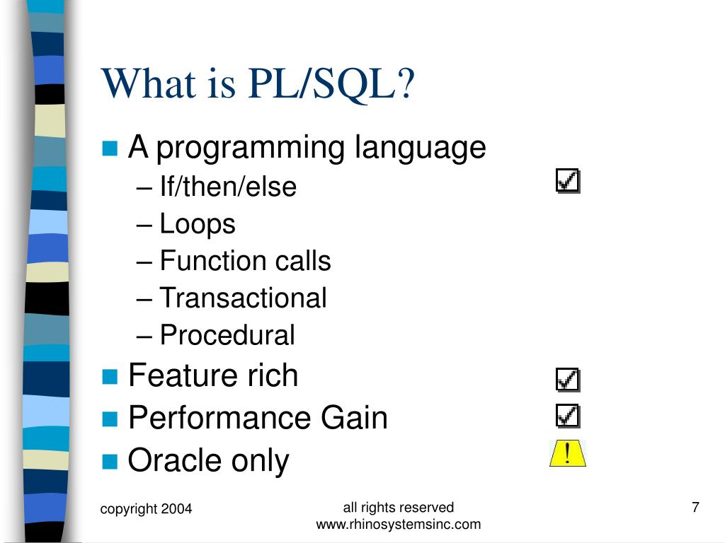 What is PL/SQL?
