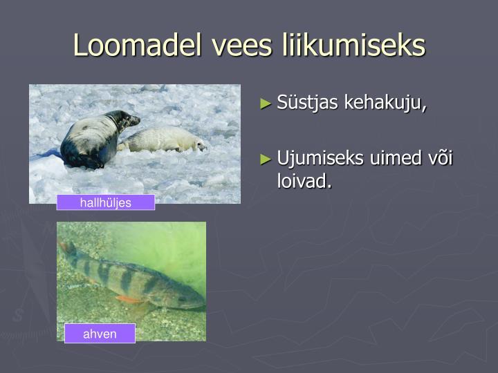 Loomadel vees liikumiseks