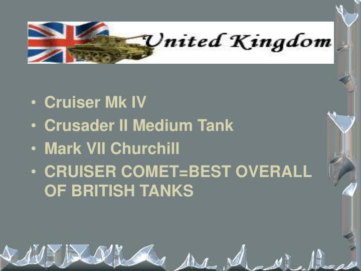 Cruiser Mk IV
