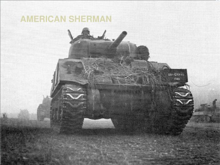 AMERICAN SHERMAN