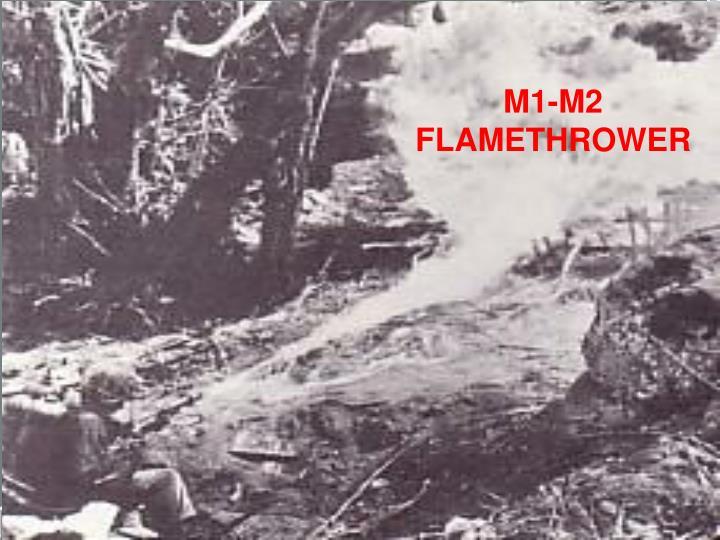 M1-M2 FLAMETHROWER